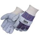 Custom Gunn Pattern Split Leather Work Gloves