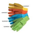 Custom 10 oz. Fluorescent Orange Canvas Work Gloves W/ Pvc Dots