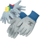 Custom Kid'S Gray Jersey Gloves With Assorted Color Wrist