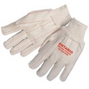 Custom Double Palm Canvas Gloves With Natural Wrist