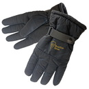 Custom Black Water-Resistant Winter Glove With Gripped Palm & Fingers