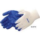 Custom Blue Latex Palm Coated Gloves