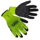 Custom Hi-Viz Lime Textured Latex Palm Coated Gloves