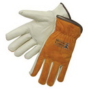 Custom Driver Gloves With Grain Palm/Brown Split Leather Back