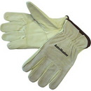 Custom Driver Gloves With Grain Patched Palm/Smoke Split Leather Back