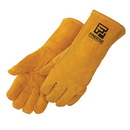 Custom Bourbon Brown Leather Welder Gloves With Kevlar® Sewn