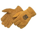 Custom Pile Lined Bourbon Brown Split Cowhide Driver Gloves