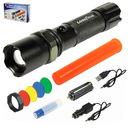Custom Deluxe 3 Watt Xpe Zoom Rechargeable Flashlight With Orange Way Wand