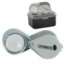 Custom 10X Silver Loupe, 1-1/8 X 3/4 X 5/8 (Closed)