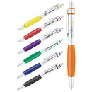 Custom Aluminum Barrel W/Soft Rubber Grip Ballpoint Pen, Click Action