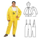 Custom Pvc/Polyester 3-Piece Yellow Rainsuit