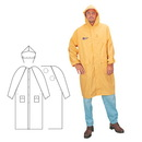 Custom Pvc/Polyester 2-Piece Yellow Raincoat