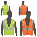 Custom Class 2 Compliant Mesh Safety Vest With Inside Pockets