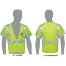 Custom Lime Class 3 Compliant Mesh Safety Vest With Sleeves