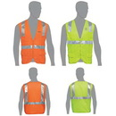 Custom Class 2 Compliant Solid Front Mesh Back Vest