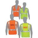 Custom Class 2 Compliant Solid Fabric Surveyor'S Vest