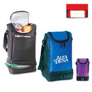 Custom 1010 70D Nylon Deluxe Dual Compartment Lunch Sack with ID Holder, 6-1/4L x 11-1/4 x 6-1/4D
