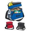 Custom 1018 600D Polyester Two Compartment Lunch Cooler Bag, 9L x 10-1/4H x 6-1/2D