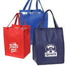 Custom 1103 non-woven fabric Eco Insulated Grocery Tote, 12L x 16H x 10D