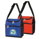Custom 1130 600D Polyester Dual Compartment Lunch Cooler, 9 L x 10-1/2 H x 6-1/2 D