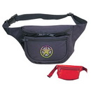 Custom 2005 Three Pocket Polyester Fanny Pack, 8 L x 4-1/2 H x 3 D