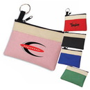 Custom 3016 600D Polyester Two Tone Key Chain Pouch, 4-1/2L x 3H x 1/4D