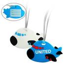 Custom 3216 Plastic Airplane Luggage Tag, 3-1/2L x 2-1/8H x 1/8D