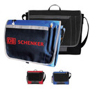 Custom 4029 600D Polyester Express Messenger Brief (with Ear Phone Outlet & Rear ID Pocket), 14L x 11H x 3-1/2D