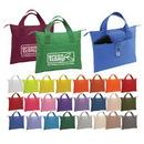 Custom 4202 50% Recycled 600D Polyester Splendor Banker Bag, 15-1/2 L x 12 H