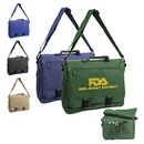 Custom 5012 600D Polyester Expandable Brief Bag, 15-1/2 L x 12-1/2 H x 4 D