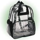 Custom 6005 600D Polyester/Clear Vinyl Clear Backpack, 12 L x 15 H x 6D