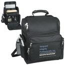 Custom 6034 600D Polyester Laptop Backpack, 12-1/2 L x 6 D x 16 H