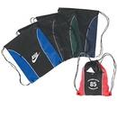 Custom 6208 90gsm non-woven fabric Eco Drawstring Bag w/Zipper Front Pocket, 15 L x 18 H