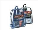 Custom 6215 Clear Vinyl Backpack, 12 L x 15 H x 4 D