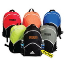 Custom 6216 600D Polyester Essential Backpack, 12-1/2 L x 16-1/2 H x 7-1/2 D