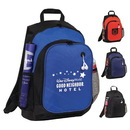 Custom 6293 600D Polyester Advent Backpack, 13L x 18H x 6-1/2D