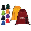 Custom 6299 210D Nylon Dual Pocket Drawstring Backpack, 14-12/L x 18H