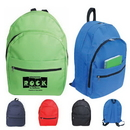 Custom 6314 600D Polyester Four Compartment Backpack, 12 L x 16 H x 5-1/2 D