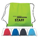 Custom 6619 Non Woven Drawstring Backpack, 15 L x 17 H