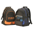 Custom 6801 600D Polyester with Vinyl Back Uptown Backpack, 13 L x 19 H x 6-1/2 D