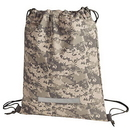 Custom 6978 600D Polyester Camo Drawstring Backpack, 12-1/2 L x 16-1/2 H