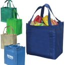 Custom 9099 90gsm non-woven fabric Reusable Grocery Tote, 12-1/2 L x 13-3/4 H x 8-1/2 D