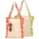 Custom 9726 Floral Canvas Tote, 14-1/2 L x 14 H x 3 W