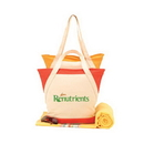 Custom 9765 Color Accent Canvas Tote, 19 L x 15 H x 5-1/2 W