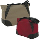 Custom 9820 600D Polyester with Vinyl Backing Keynote Tote, 15-1/2 L x 11-1/4 H x 6 D