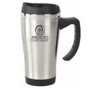 Custom DW1108 16 oz. EZ Grip Stainless Travel Mug, 3-1/3 W x 6-3/4 H