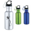 Custom DW1110 17 oz. Jogger's Stainless Steel Water Bottle, 2-9/10 W x 7-1/2 H
