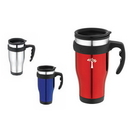 Custom DW1131 16 oz. EZ Grip Stainless Steel Travel Mug, 5-1/2 W x 6-15/16 H
