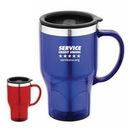 Custom DW1147 Stainless Steel 16 oz. Translucent Travel Mug, 5 W x 6-2/5 H