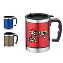 Custom DW1151 Stainless Steel 16 oz. Translucent Travel Mug, 4-4/5 W x 4-4/5 H
